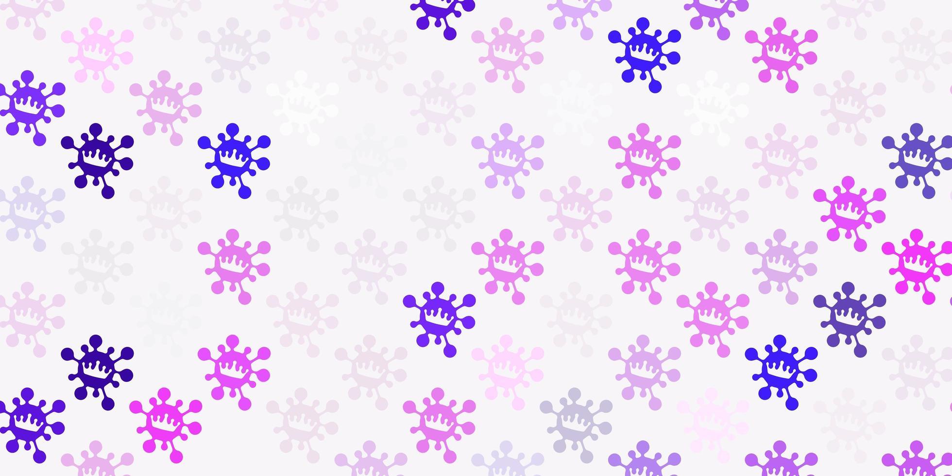 modèle vectoriel violet clair, rose avec des signes de grippe.
