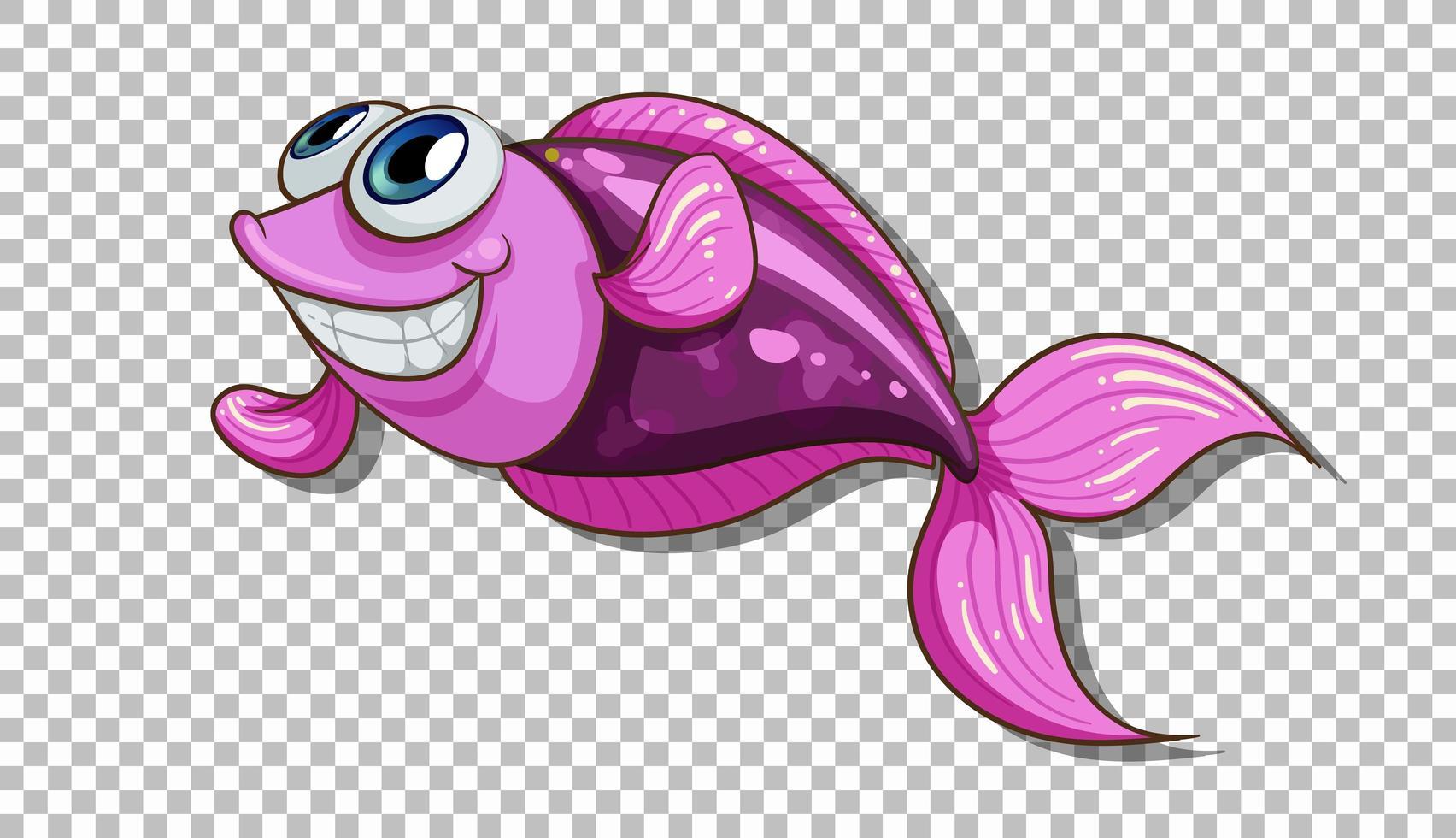 un personnage de dessin animé de poisson isolé vecteur
