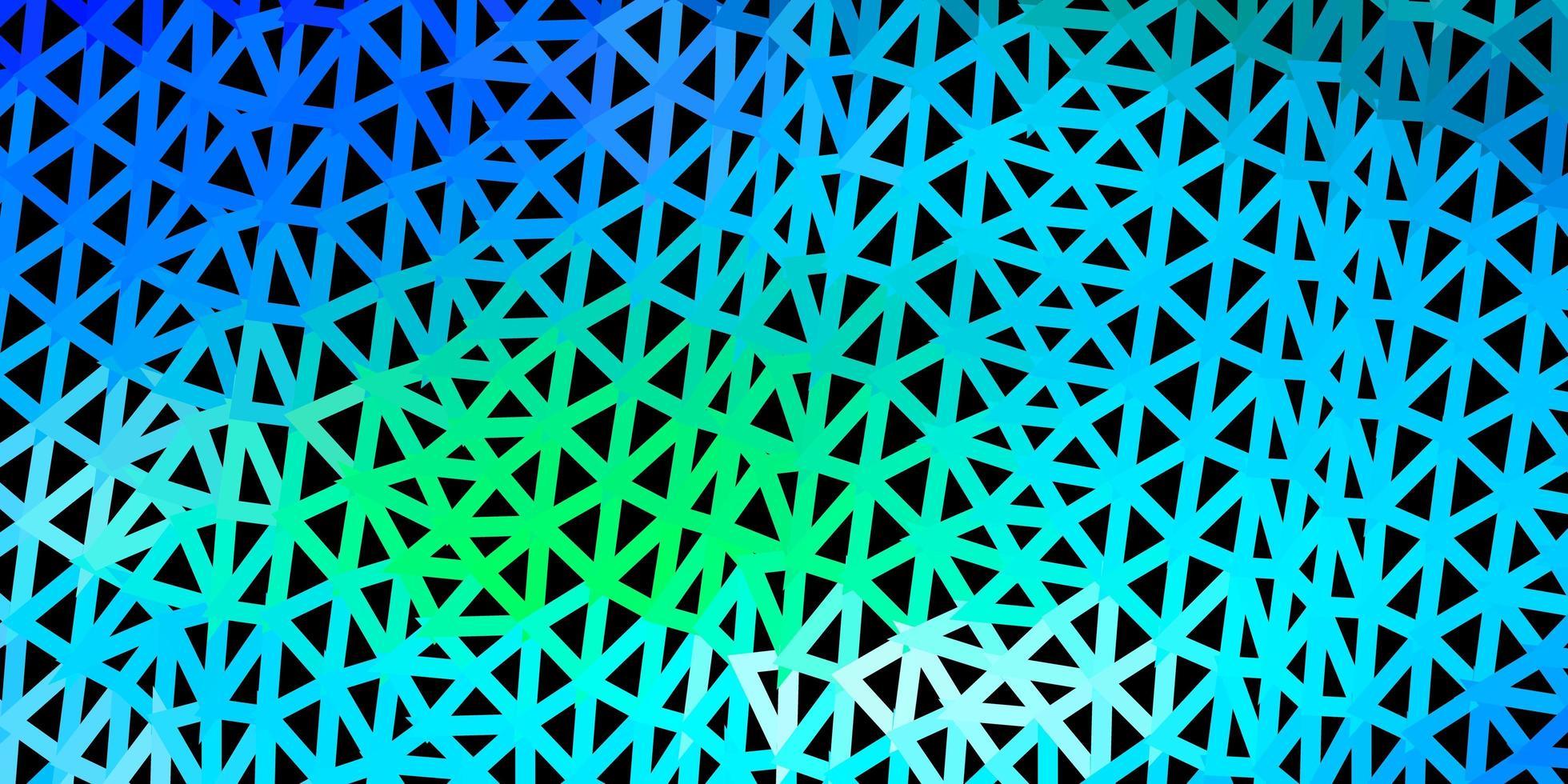 fond d'écran polygonale géométrique vecteur bleu clair, vert.