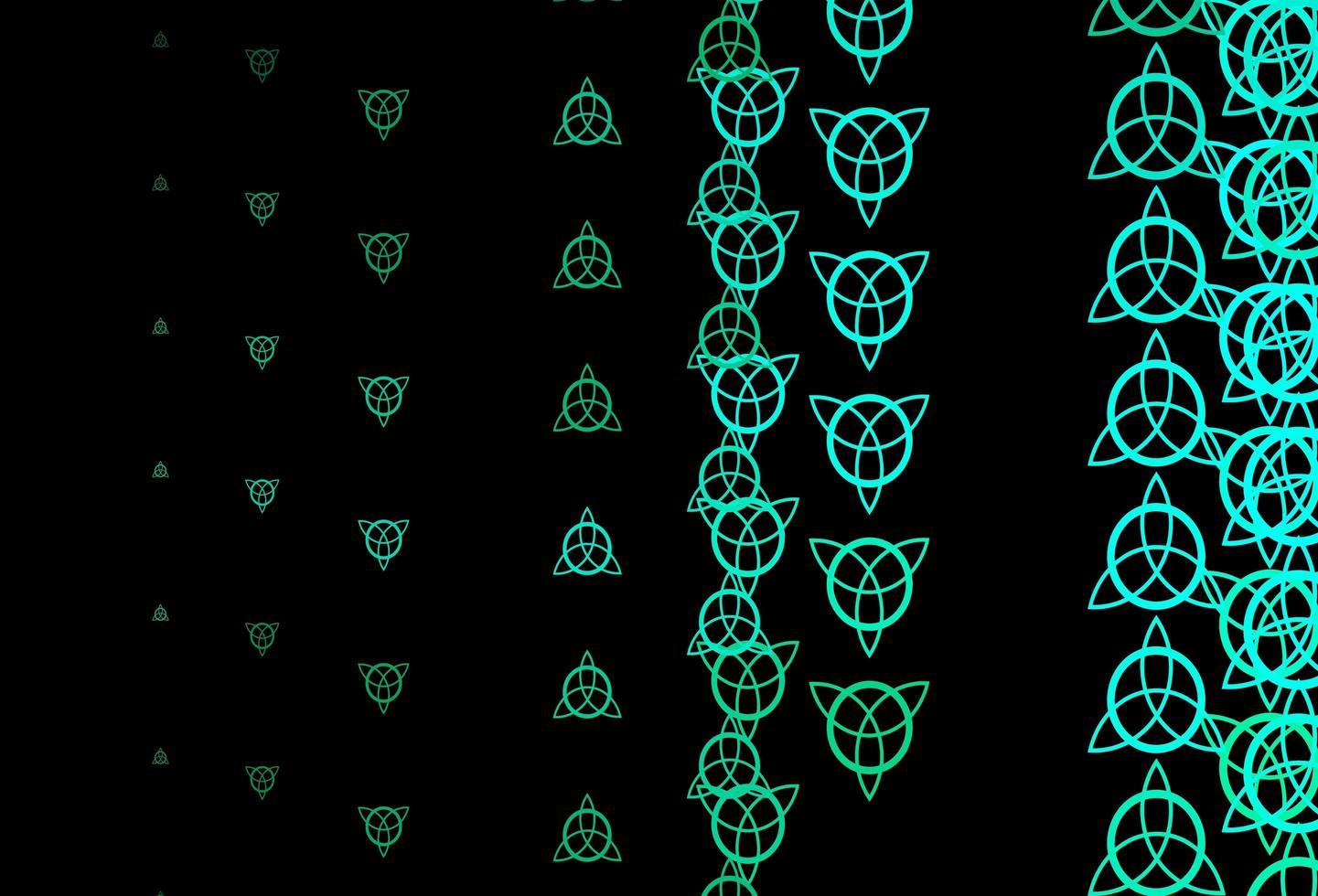 modèle vectoriel vert foncé avec des éléments magiques.