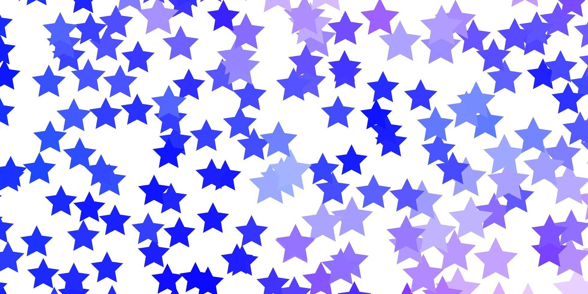 texture de vecteur rose clair, bleu avec de belles étoiles.