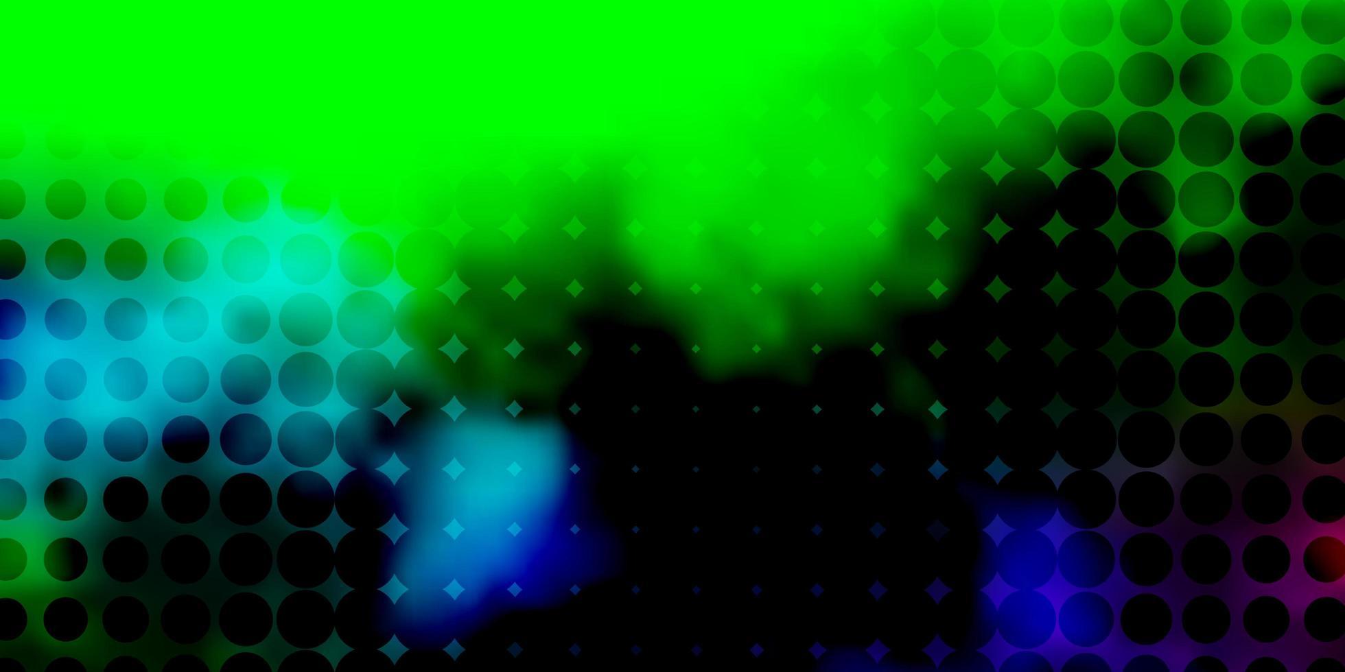 fond de vecteur multicolore sombre avec des cercles.