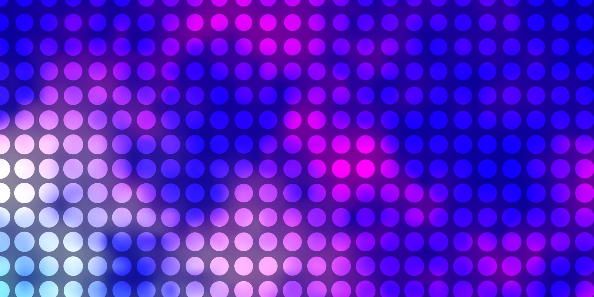 texture de vecteur rose clair, bleu avec des cercles.