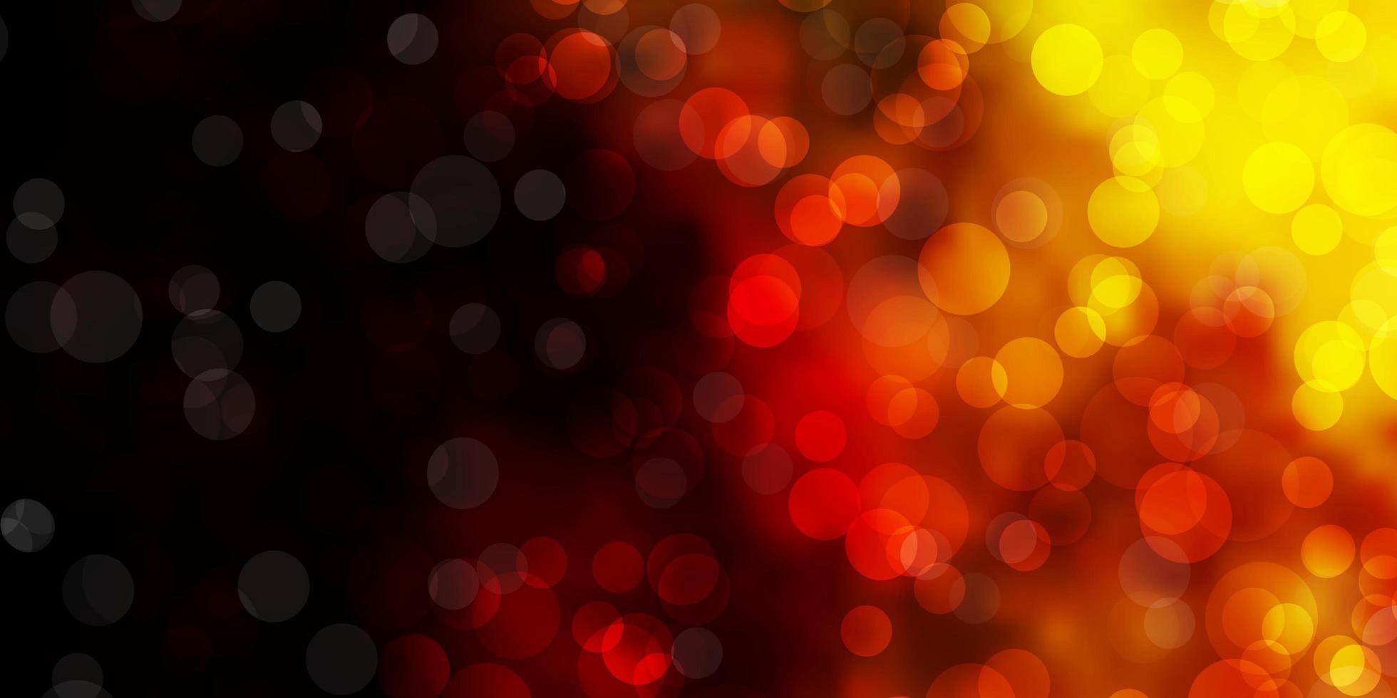 toile de fond de vecteur rouge et jaune foncé avec des points.