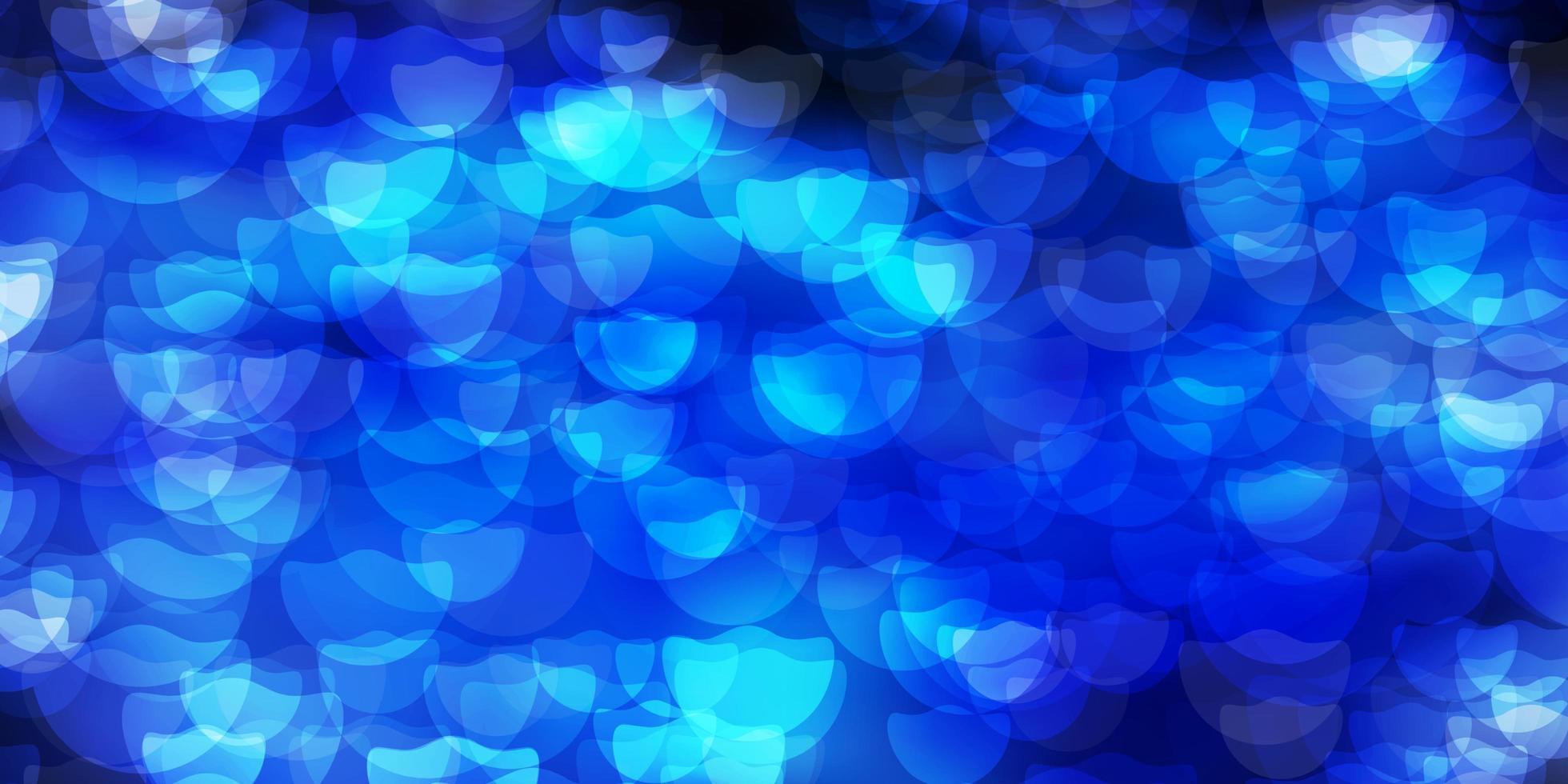 disposition de vecteur bleu foncé avec des formes de cercle