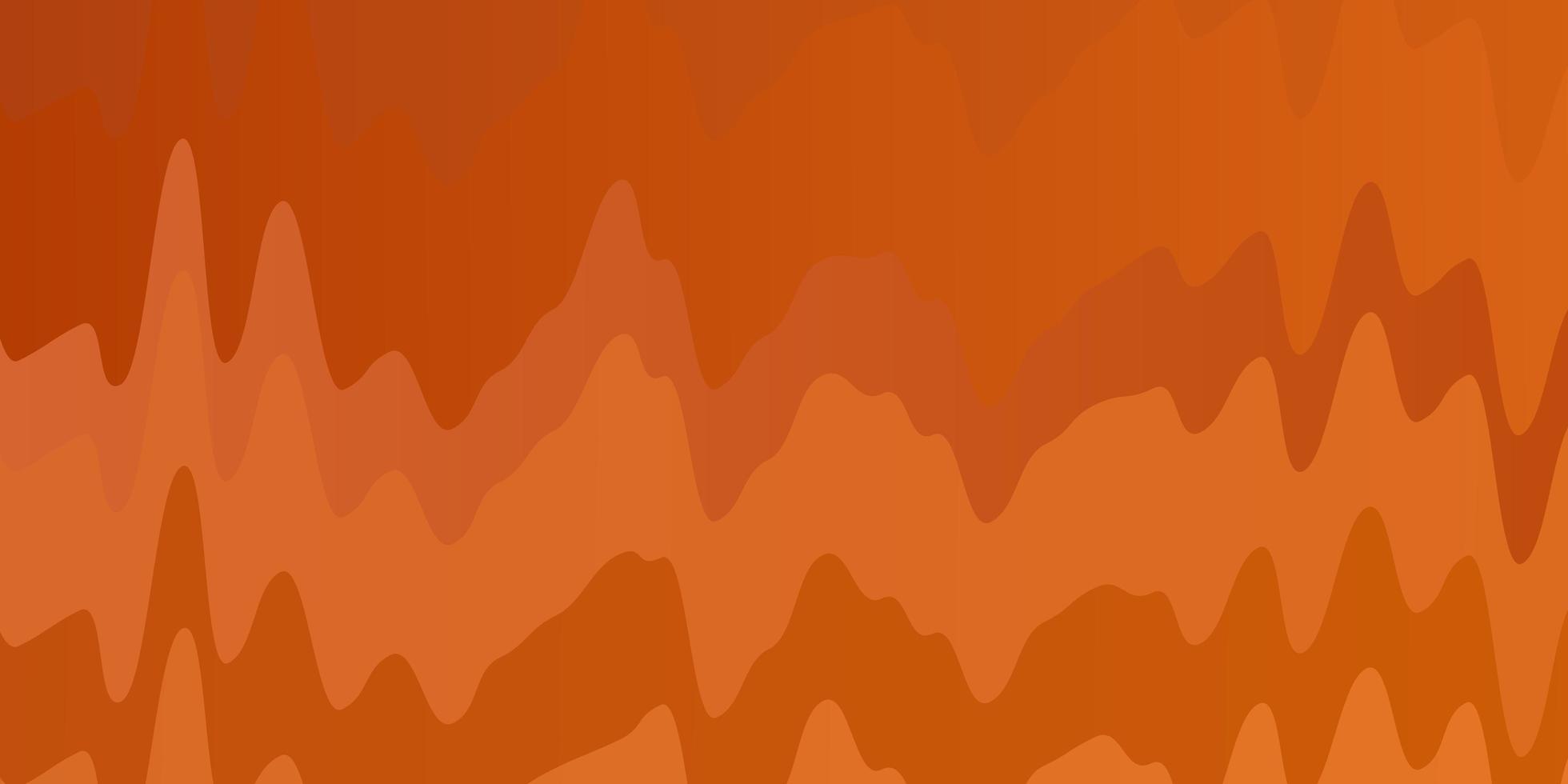 texture de vecteur orange clair avec des courbes.