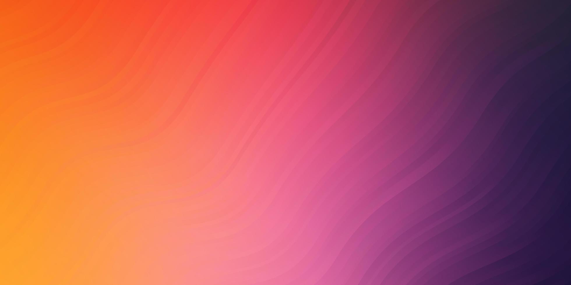 texture de vecteur rose clair, jaune avec des courbes.