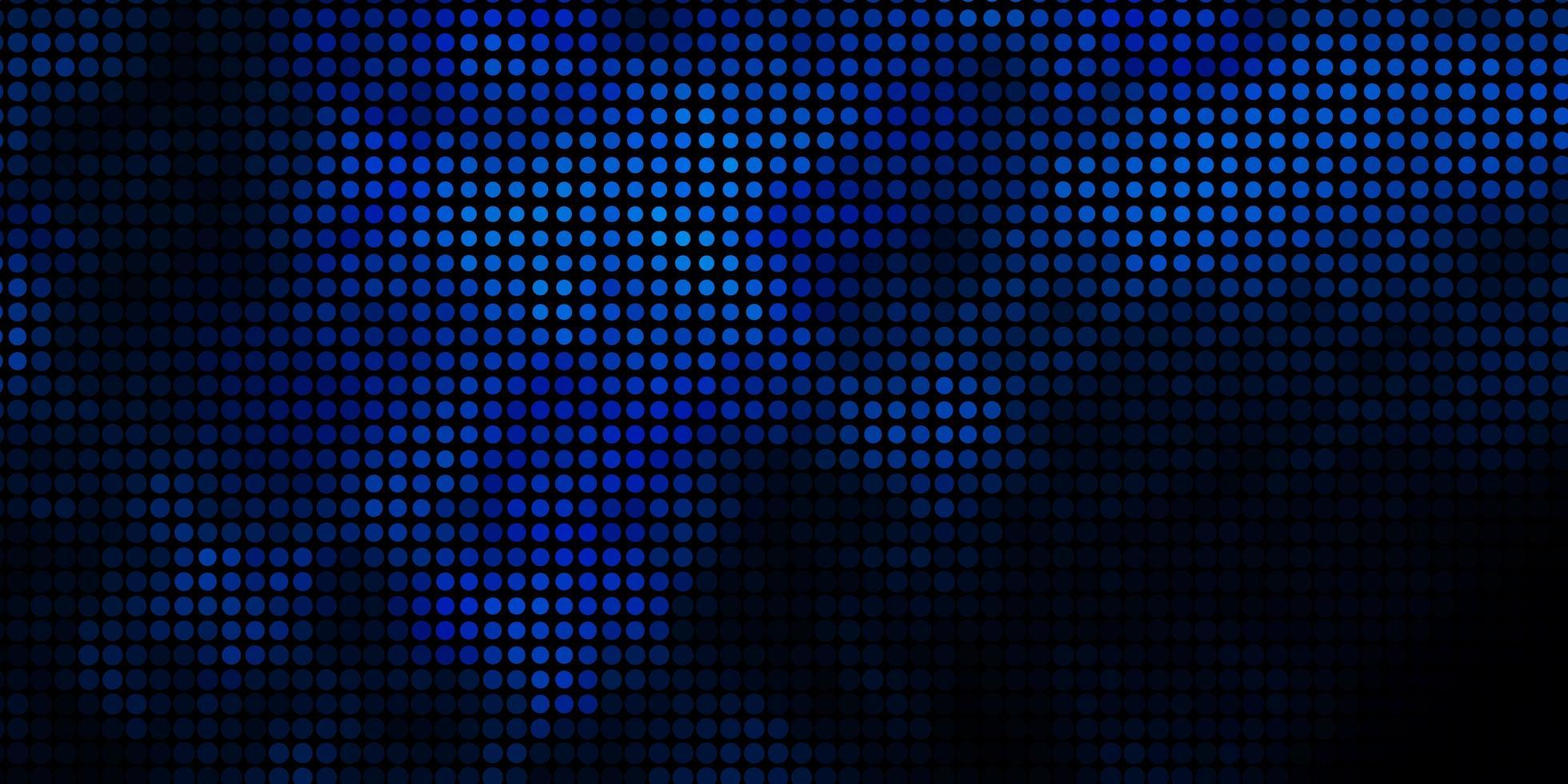 fond de vecteur bleu foncé avec des cercles.