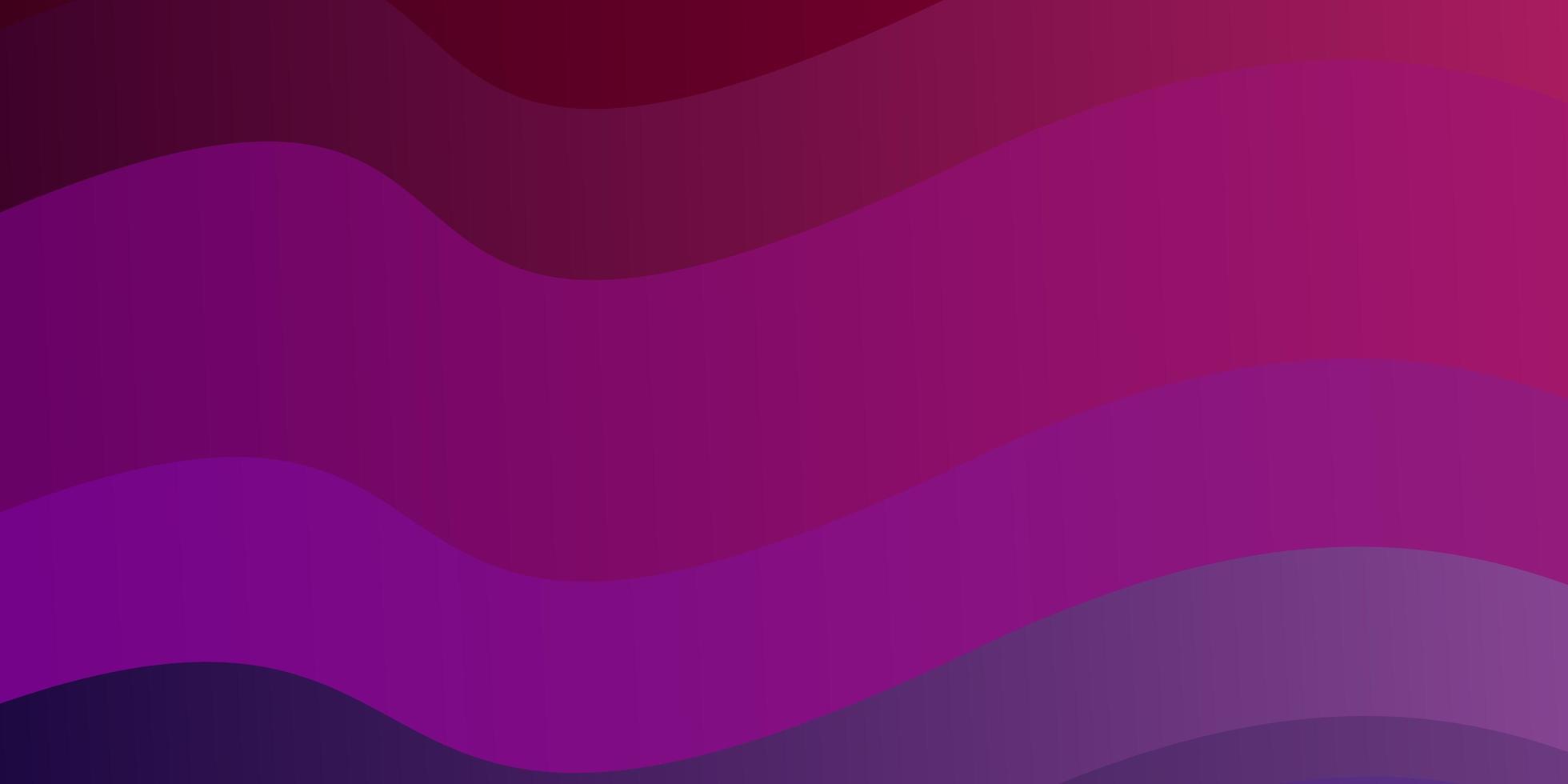 modèle vectoriel violet foncé, rose avec des lignes courbes.