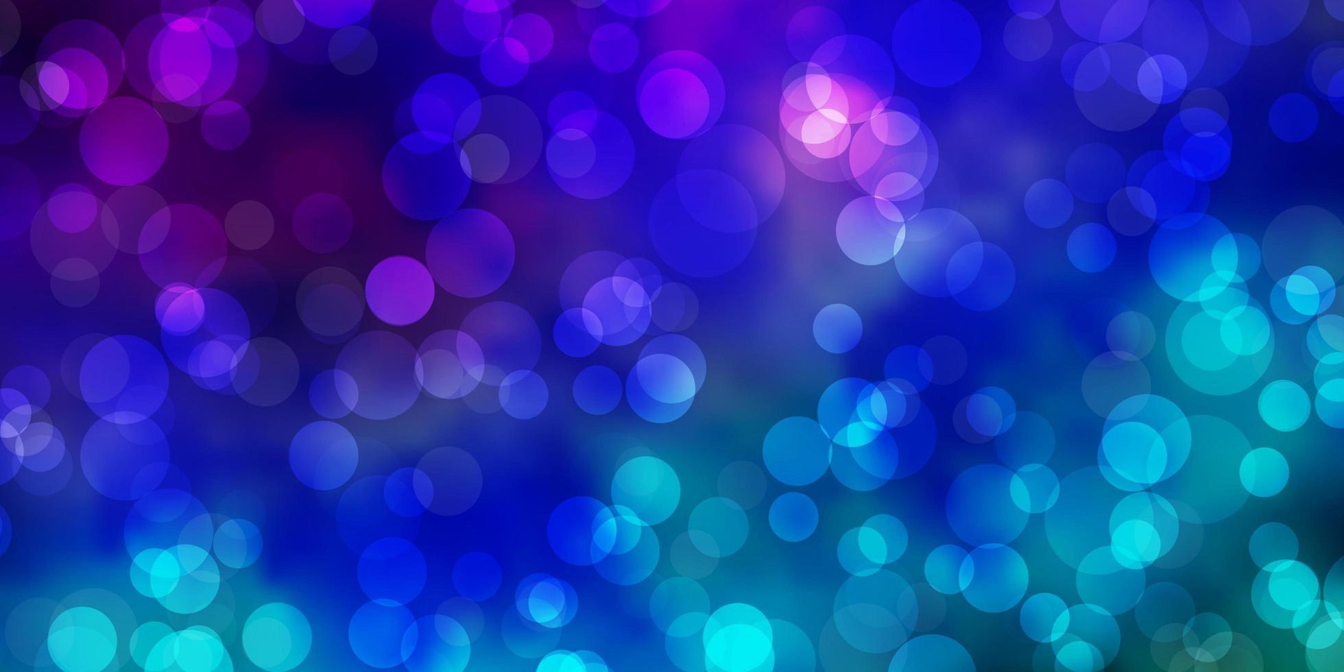 fond de vecteur multicolore clair avec des bulles.