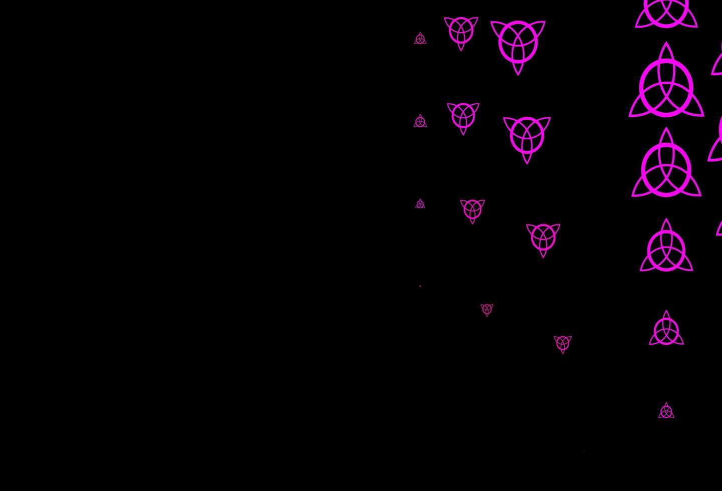 modèle vectoriel rose foncé avec des éléments magiques.