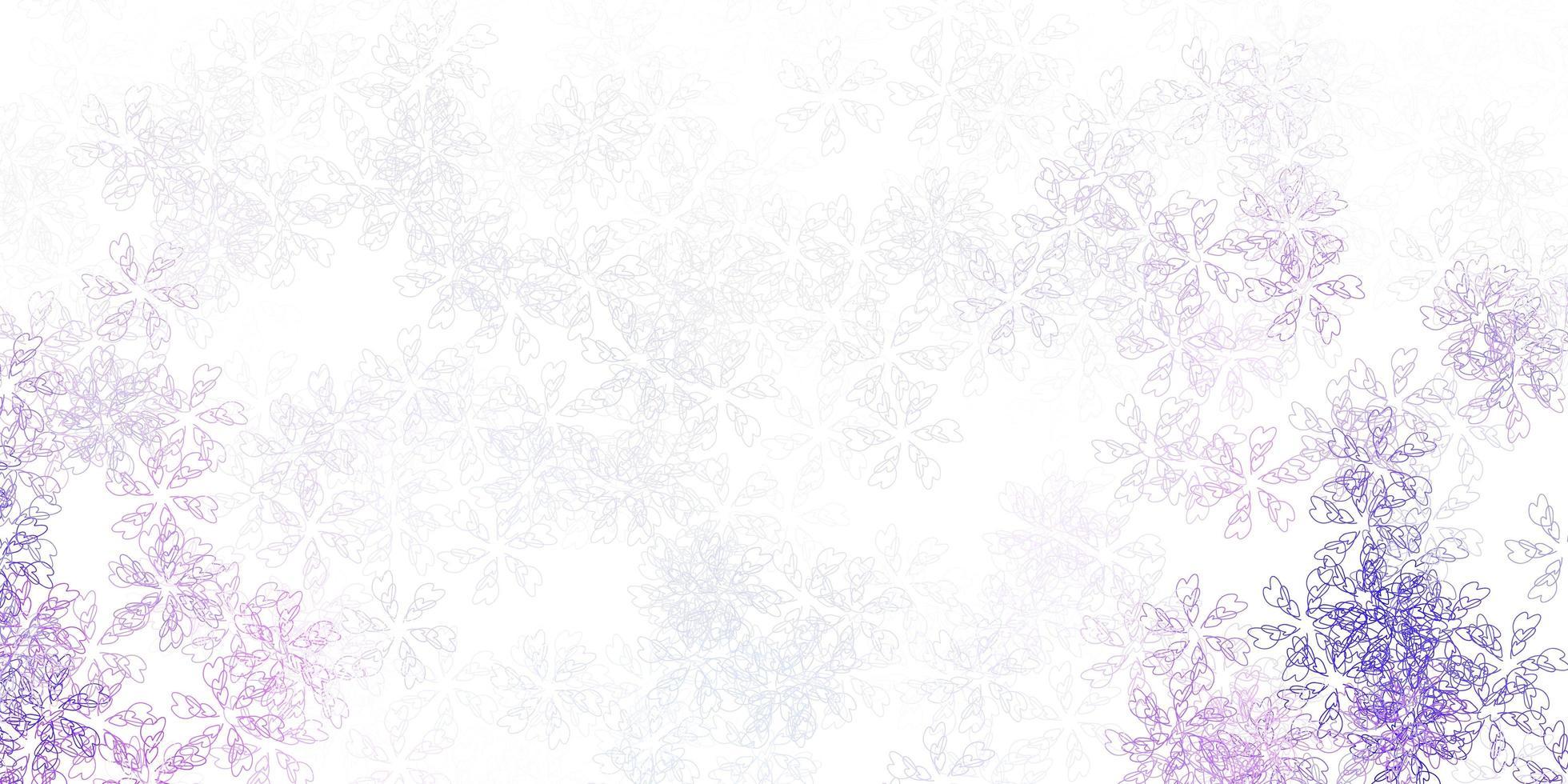 oeuvre abstraite de vecteur violet clair avec des feuilles.