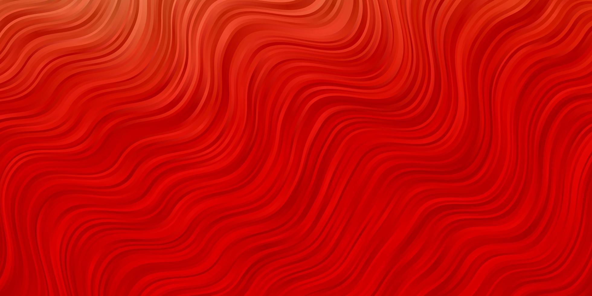 texture de vecteur rouge clair avec des courbes.