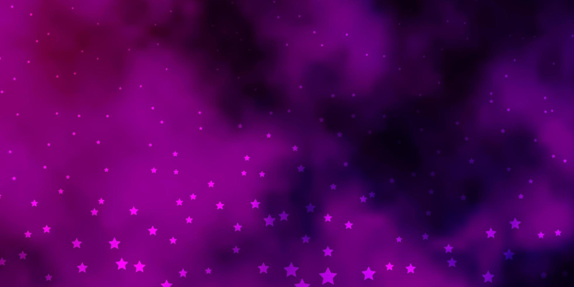 disposition de vecteur violet foncé, rose avec des étoiles brillantes.