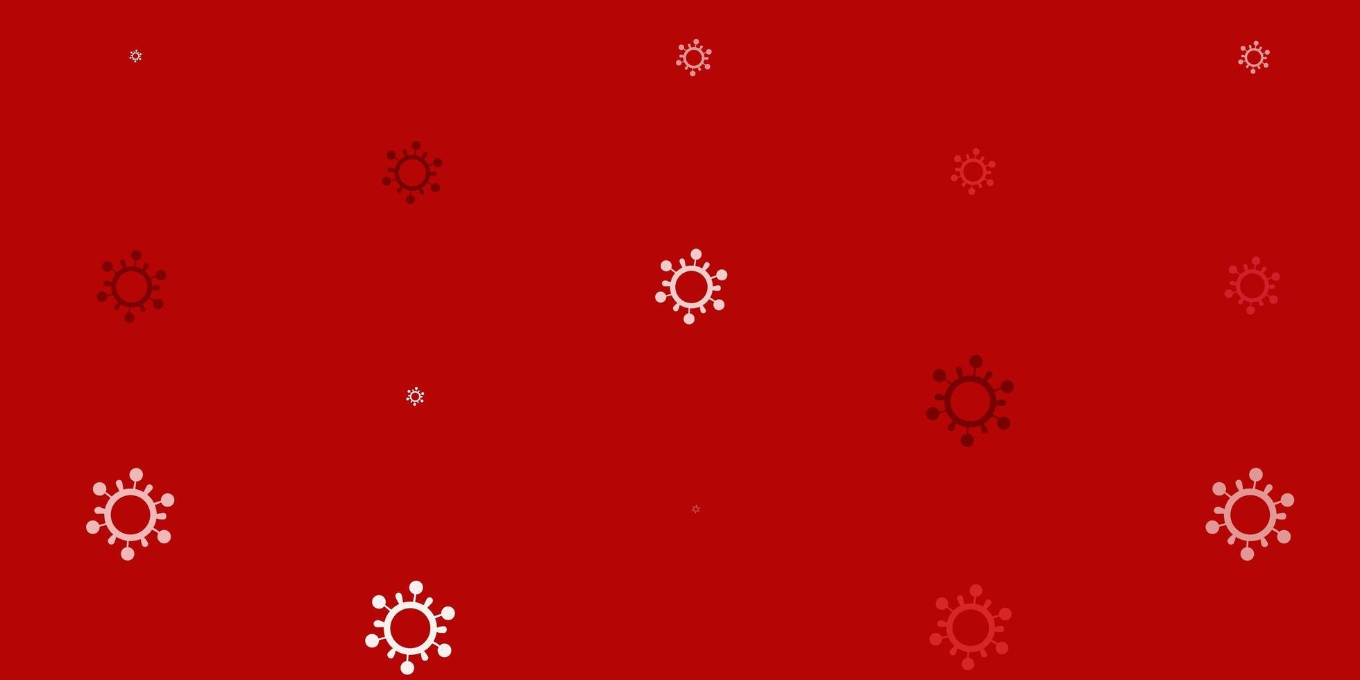 modèle de vecteur rose clair, rouge avec des signes de grippe.