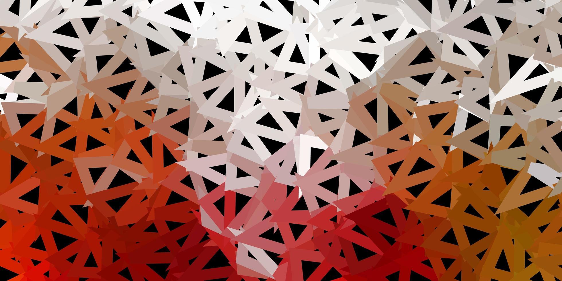 disposition polygonale géométrique de vecteur vert clair, rouge.
