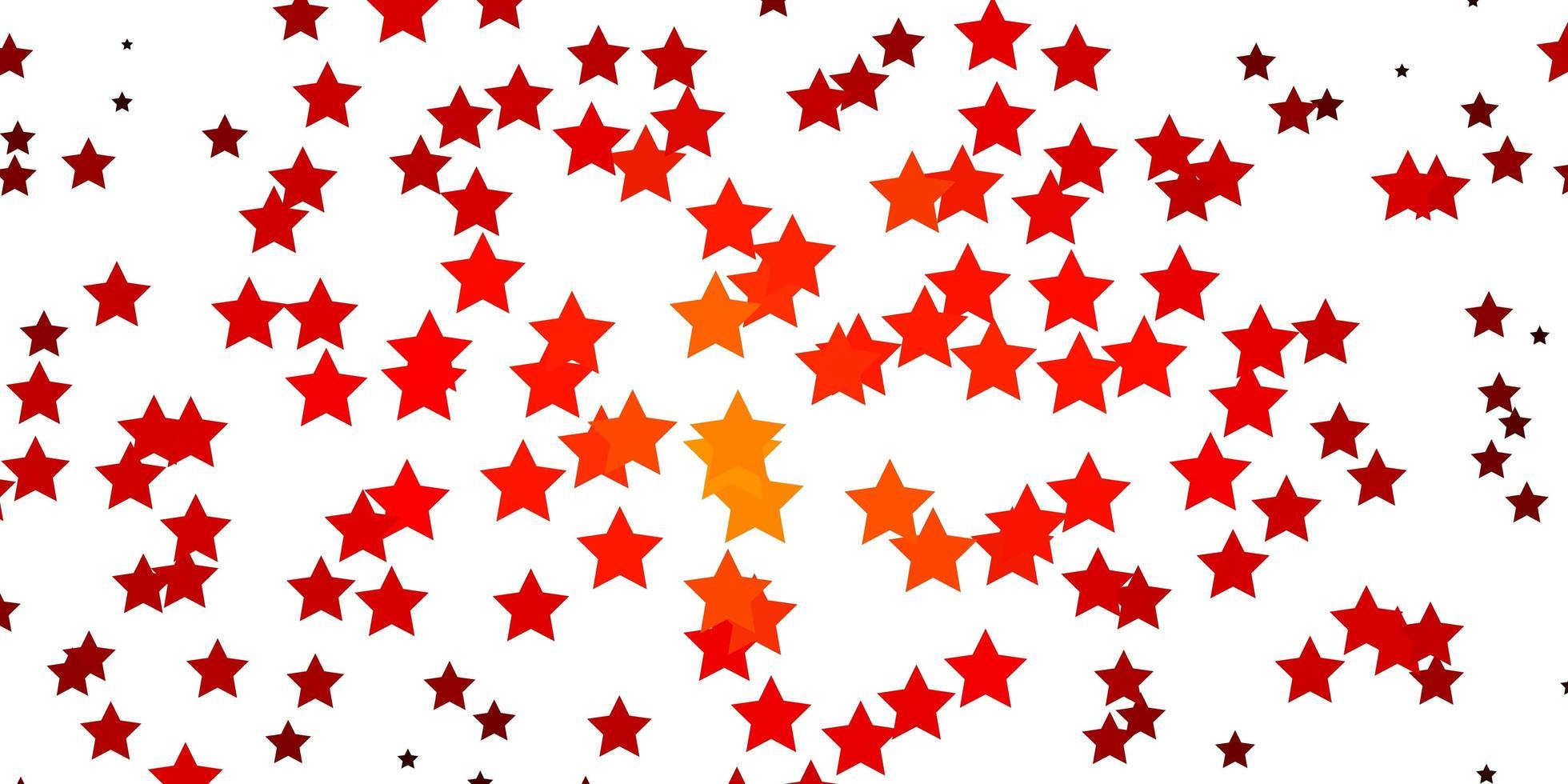 texture de vecteur rouge foncé avec de belles étoiles