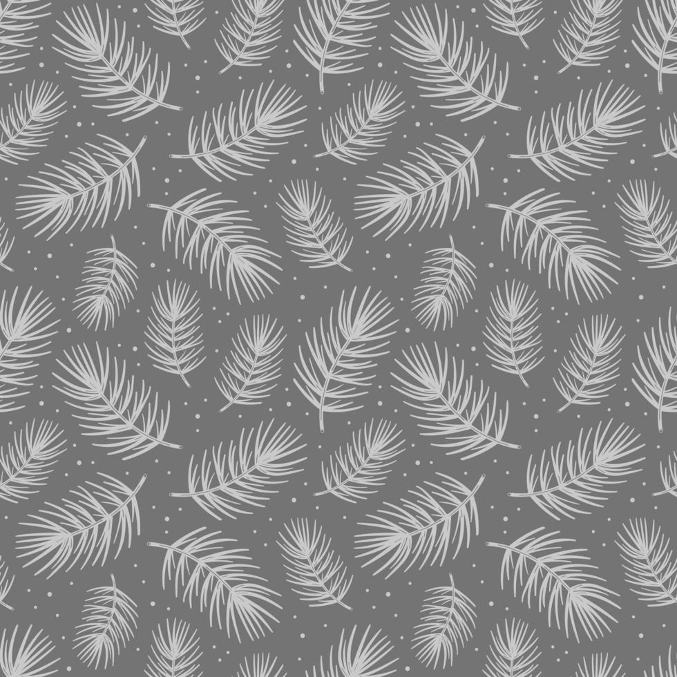 Élément d'arbre de pin branche d'épinette. fond de texture transparente motif. vecteur