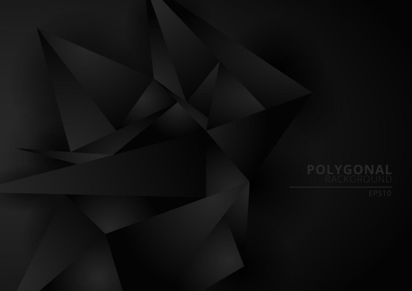 fond abstrait forme polygonale géométrique noir avec un espace pour votre texte. vecteur