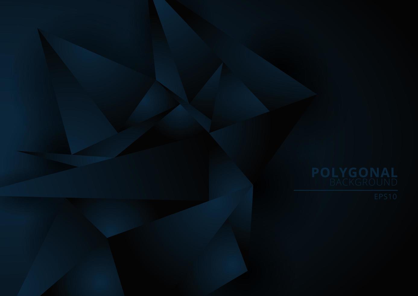 fond abstrait forme polygonale géométrique bleu foncé vecteur