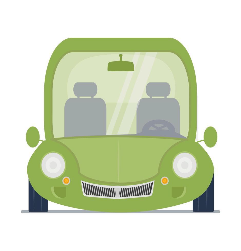 illustration de vue de face de voiture verte vecteur