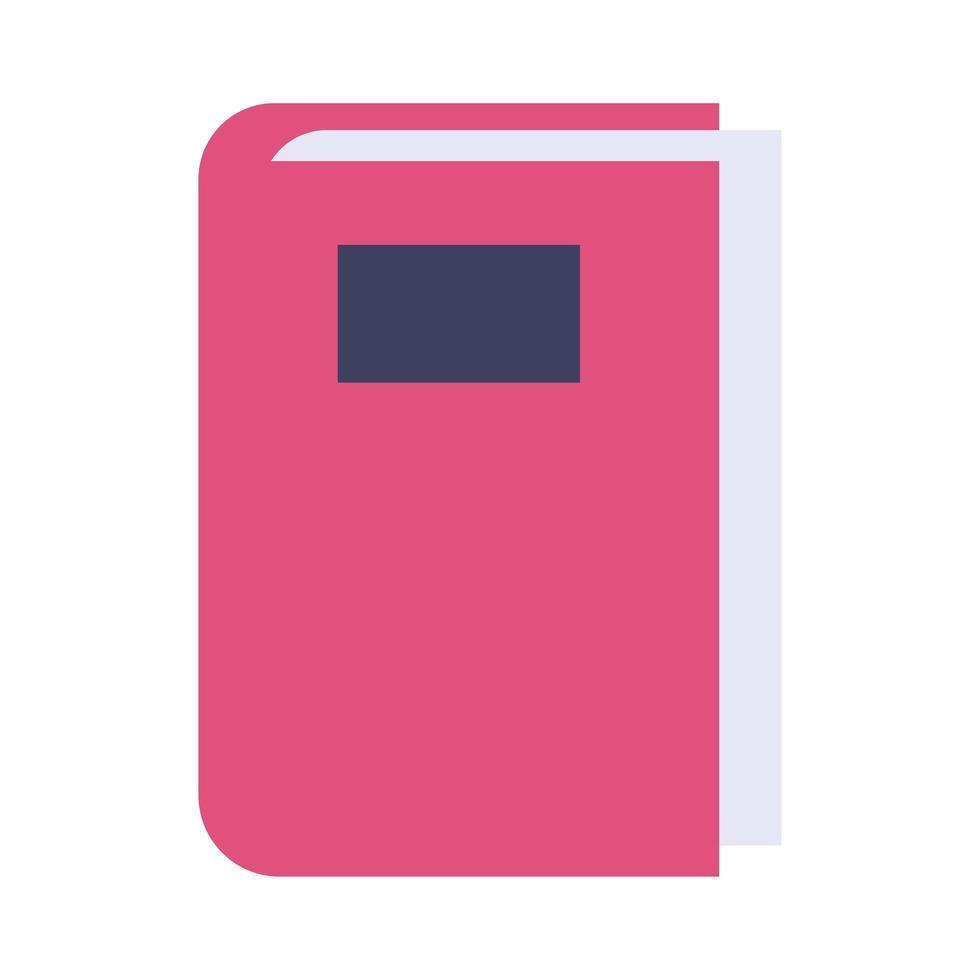 icône de style plat livre texte vecteur
