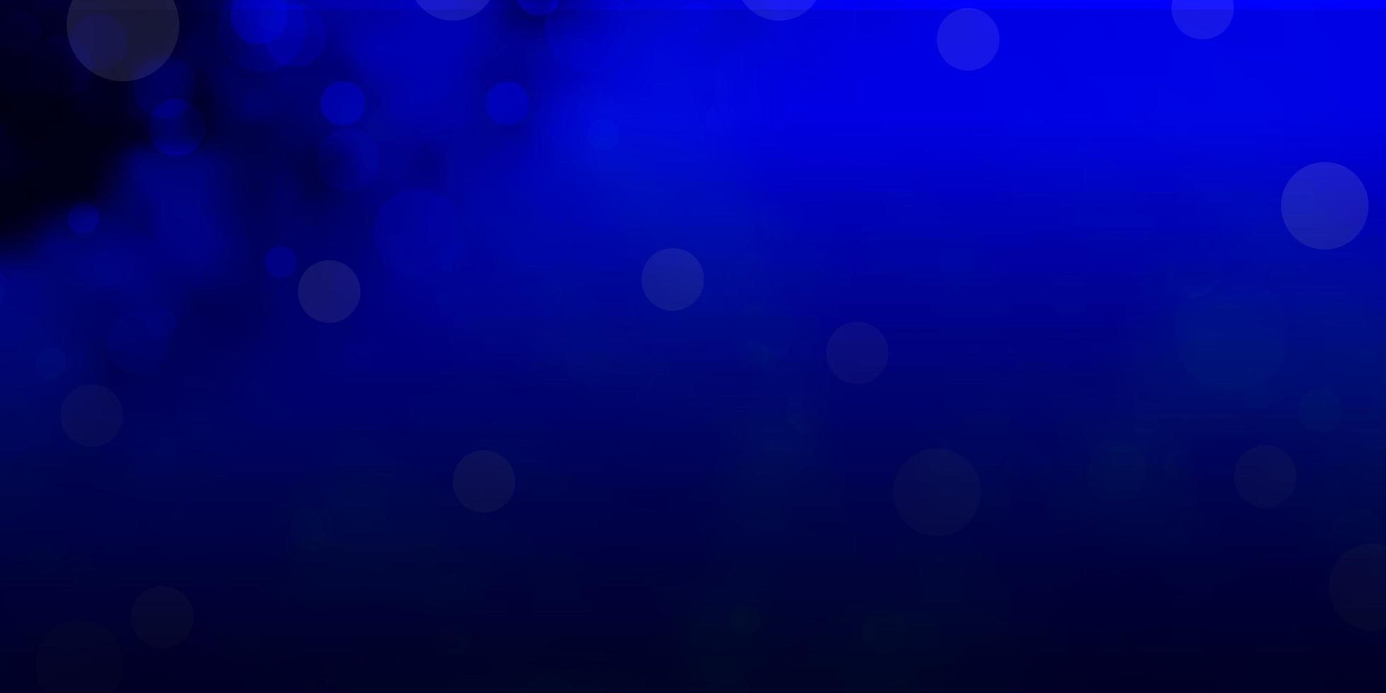 fond de vecteur bleu foncé avec des bulles.