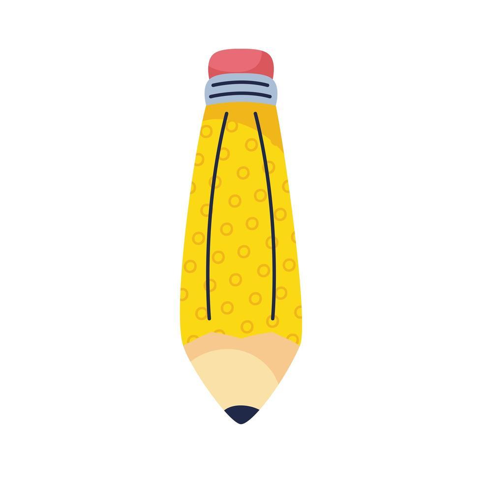 crayon école approvisionnement main dessiner style vecteur