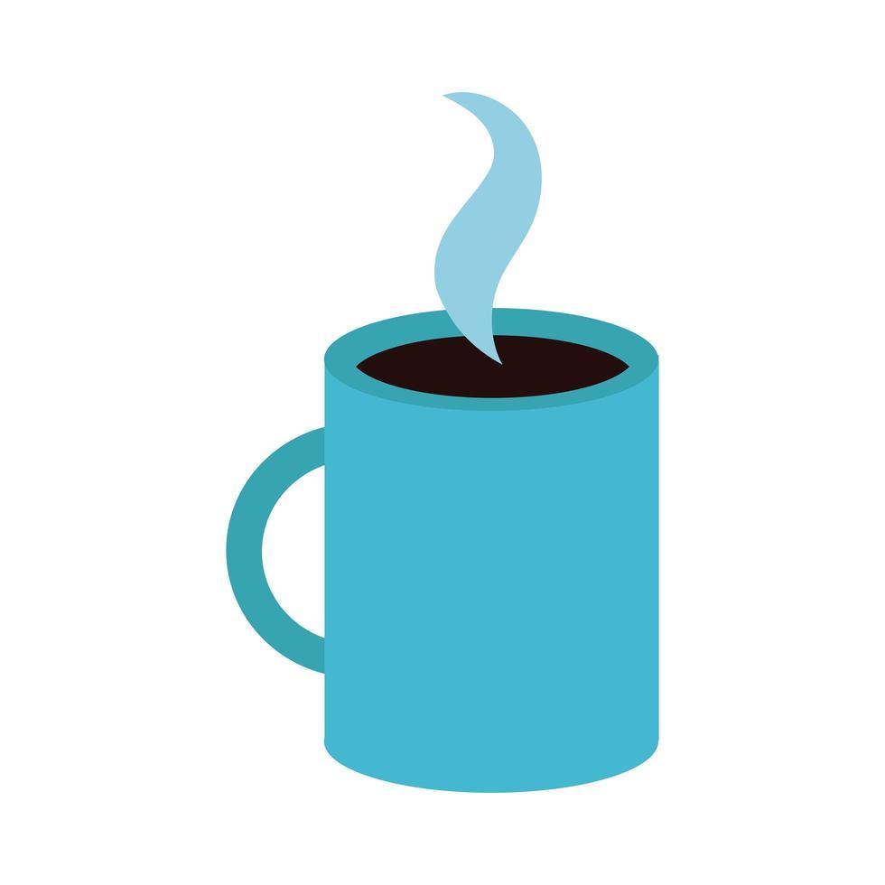 icône de style plat tasse à café vecteur