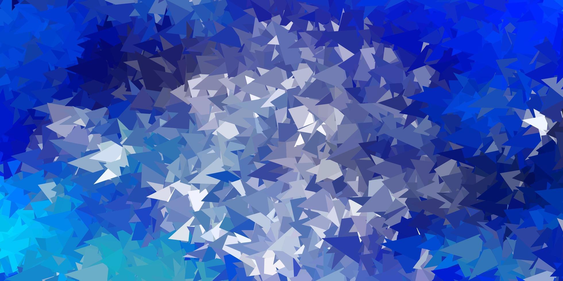 motif de triangle abstrait vecteur bleu clair.