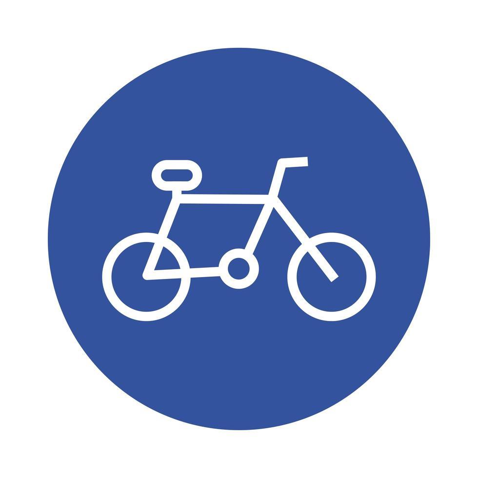 icône de style bloc sport vélo vecteur