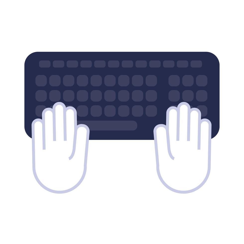 icône de style plat clavier ordinateur vecteur
