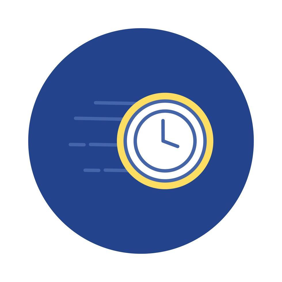 bloc de montre d'horloge et style plat vecteur