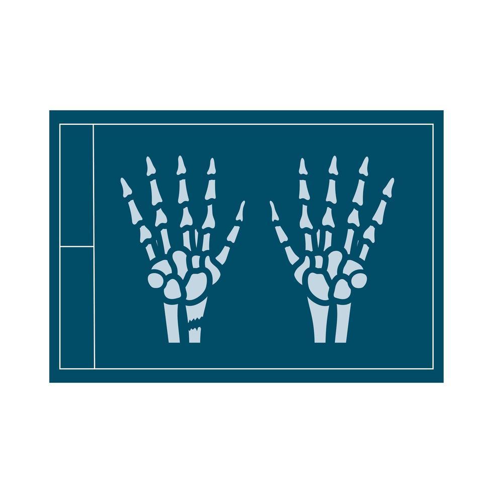 icône de style plat médical aux rayons x vecteur