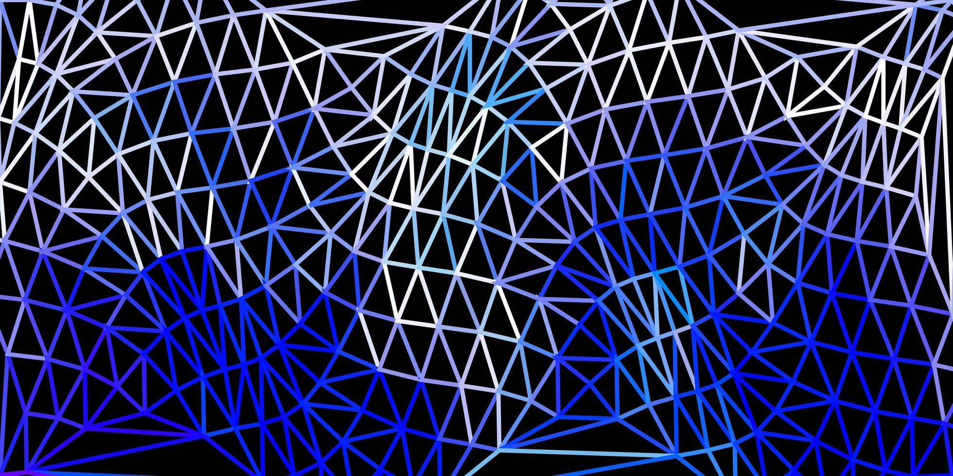 texture de polygone dégradé vecteur bleu foncé.