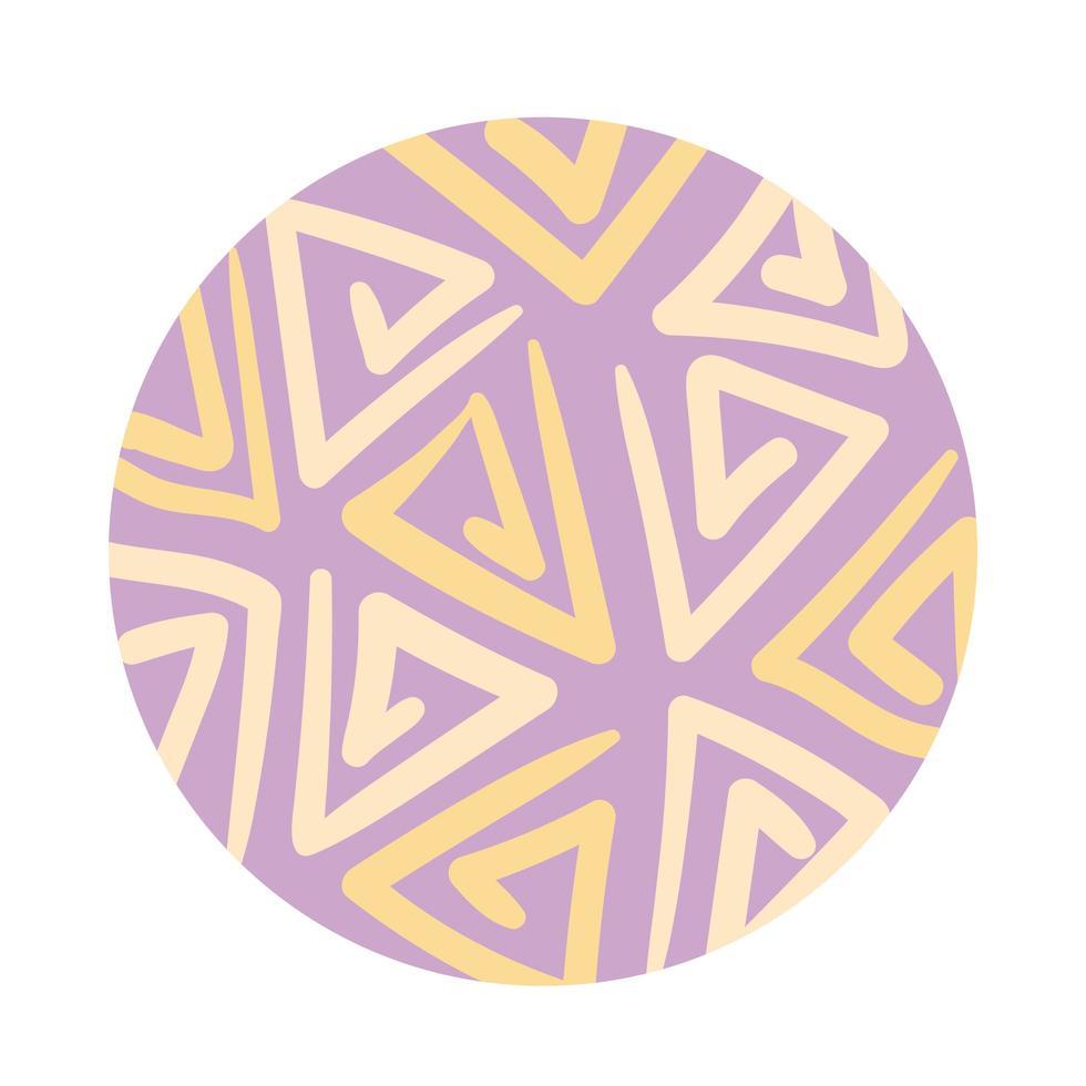 style de bloc de motif organique triangles vecteur