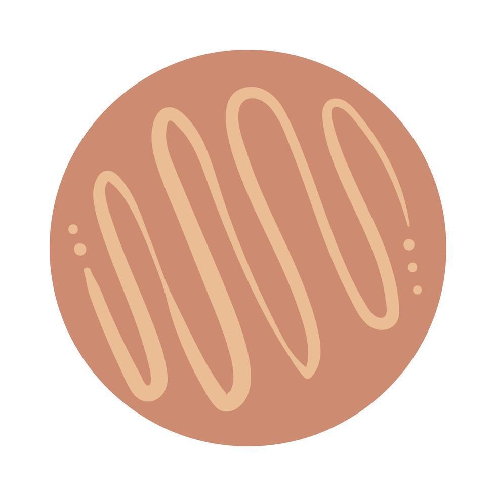 lignes en spirale style de dessin à la main boho vecteur