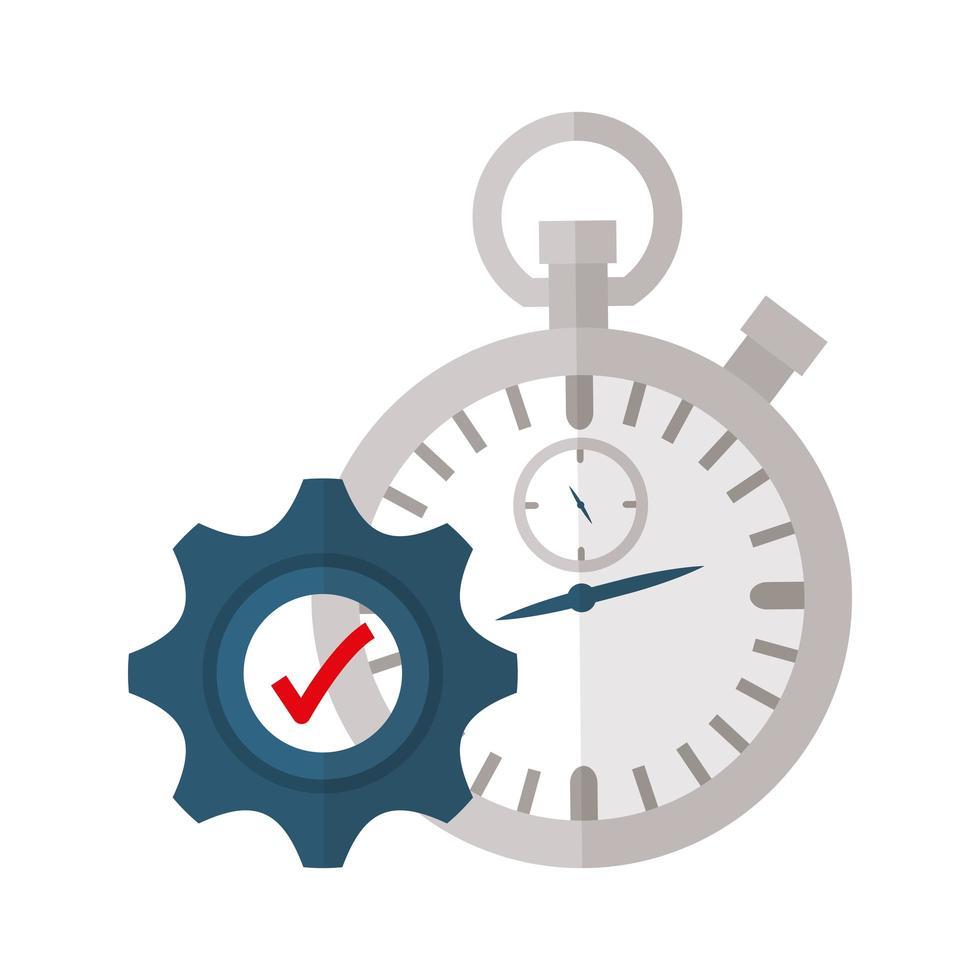 conception de vecteur de chronomètre isolé