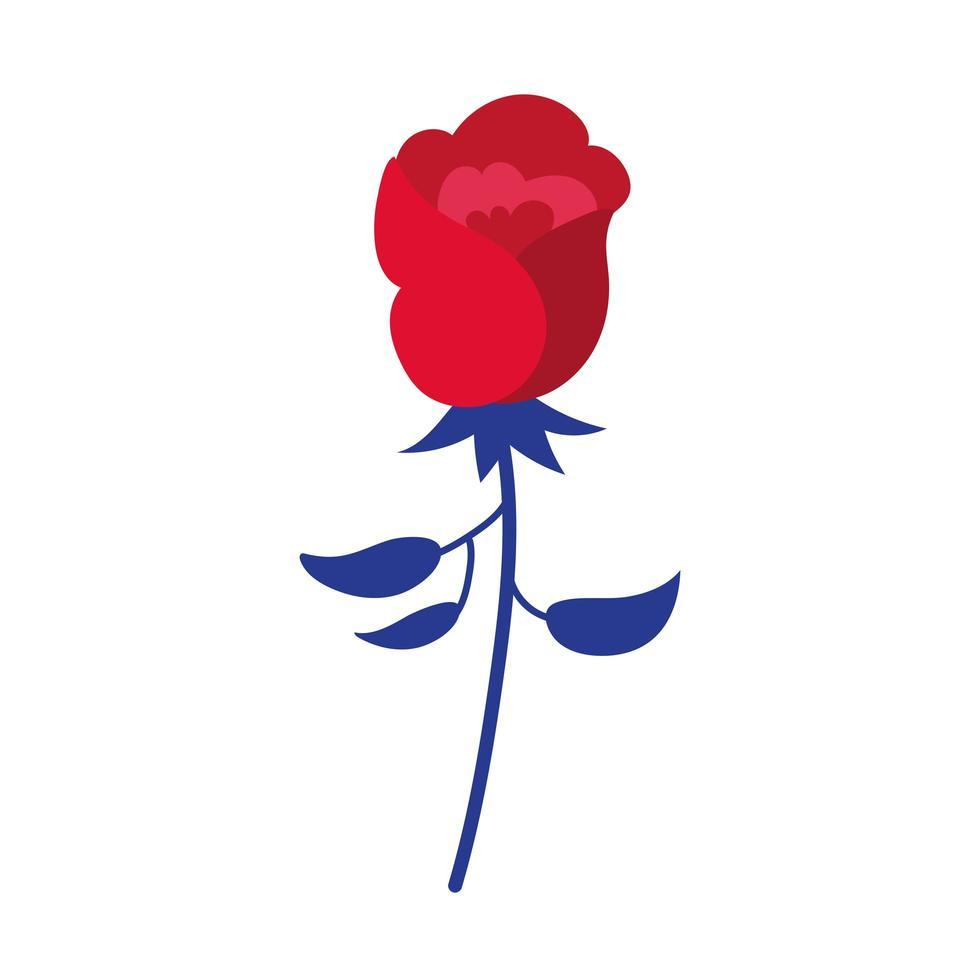 icône de style de dessin de main de fleur rose vecteur