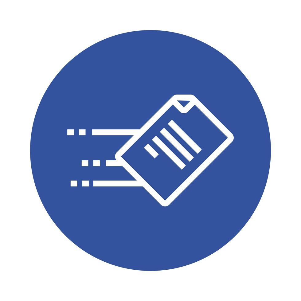 icône de style de bloc de document papier vecteur