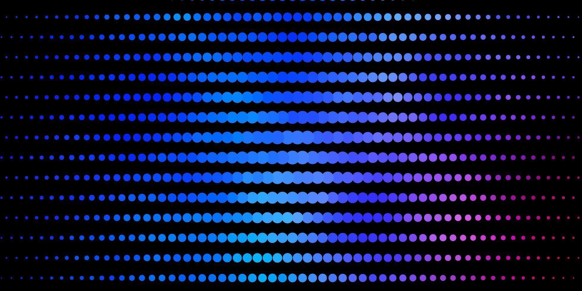 texture de vecteur bleu foncé, rouge avec des disques.