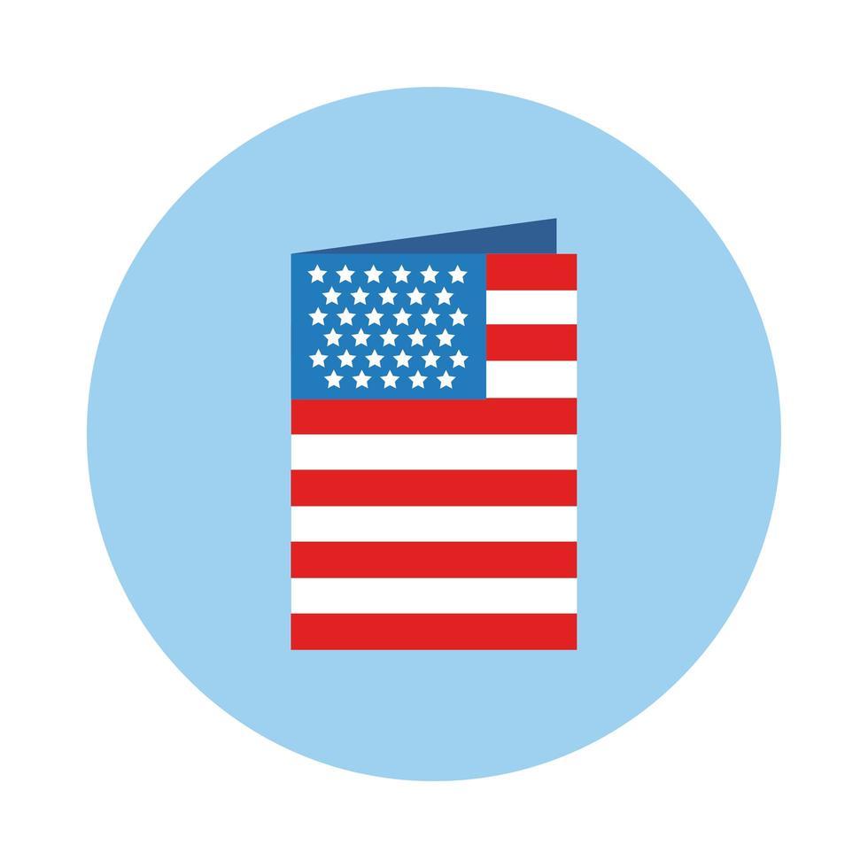 conception d'illustration vectorielle style bloc drapeau usa vecteur