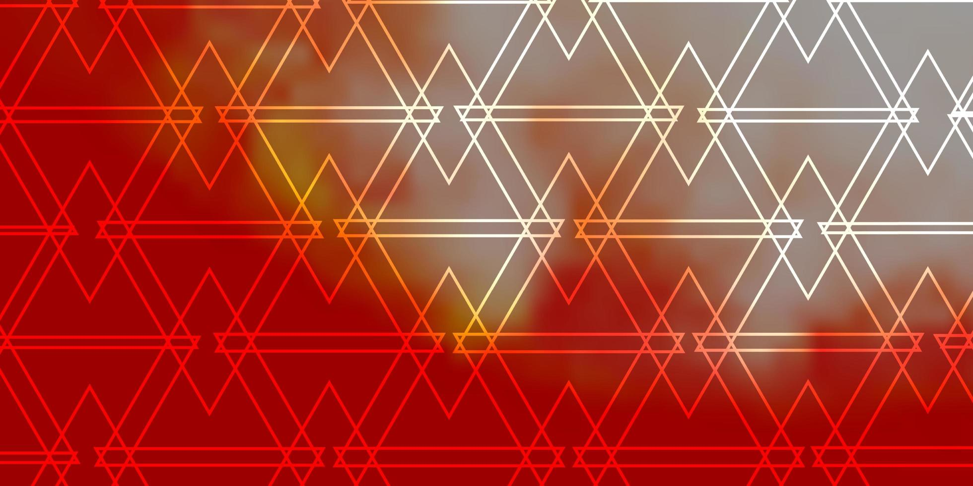 disposition de vecteur rouge clair avec des lignes, des triangles.