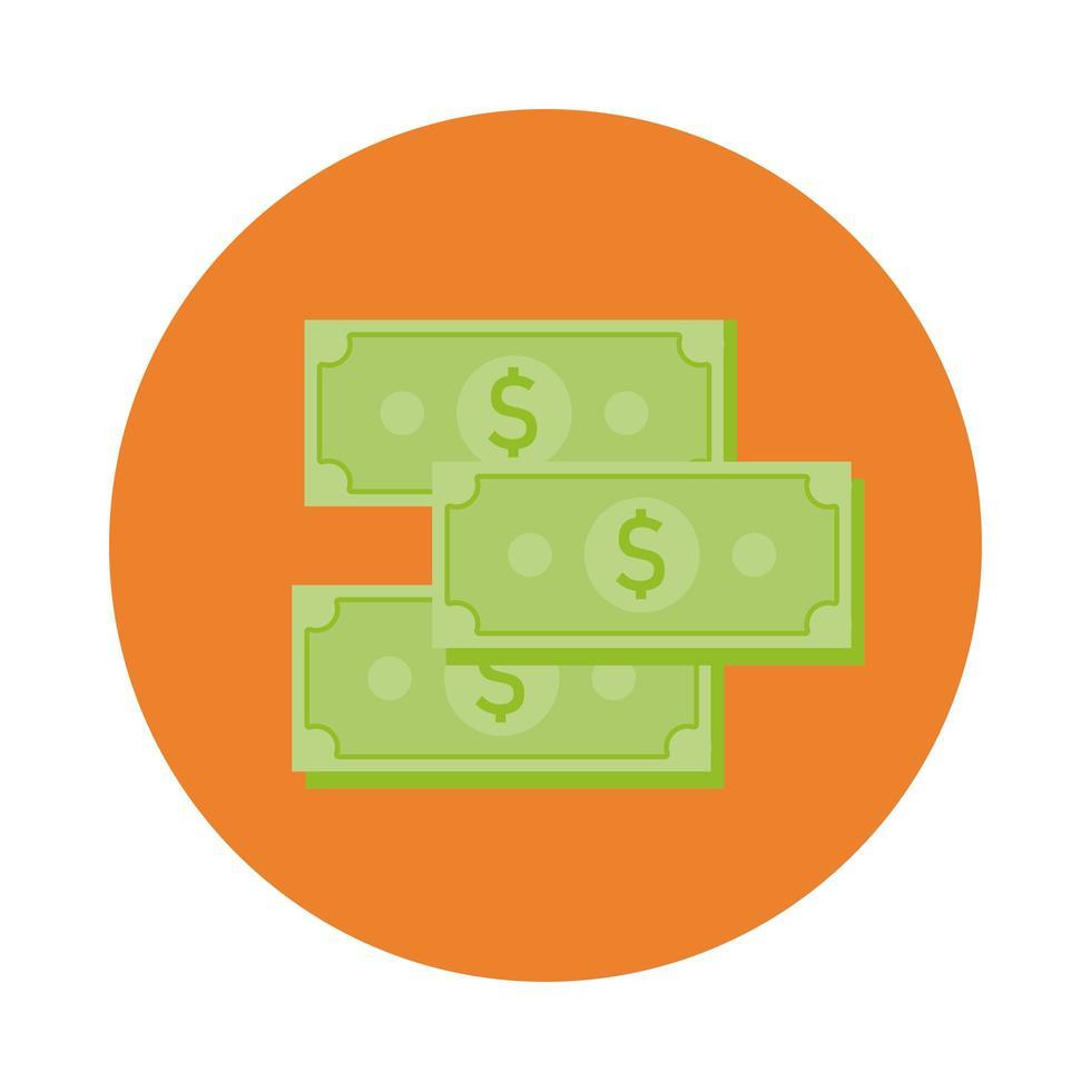 factures de style de bloc de dollars argent vecteur