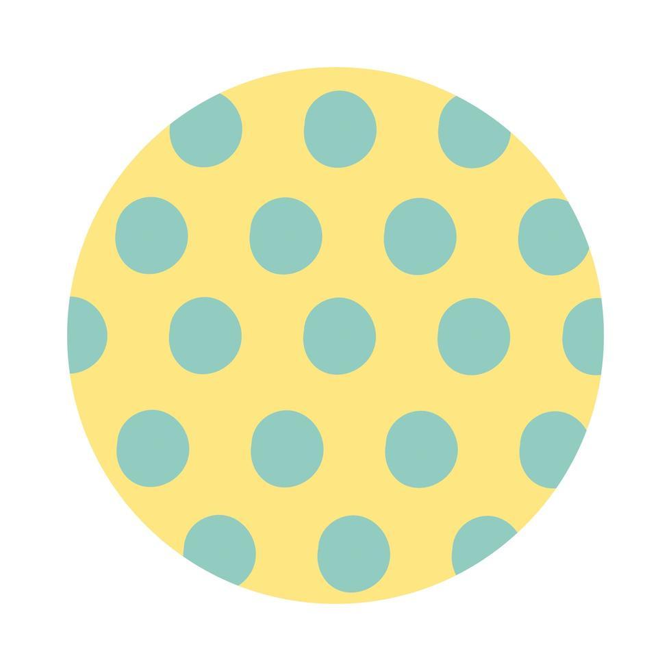 style de bloc de motif organique en pointillé vecteur