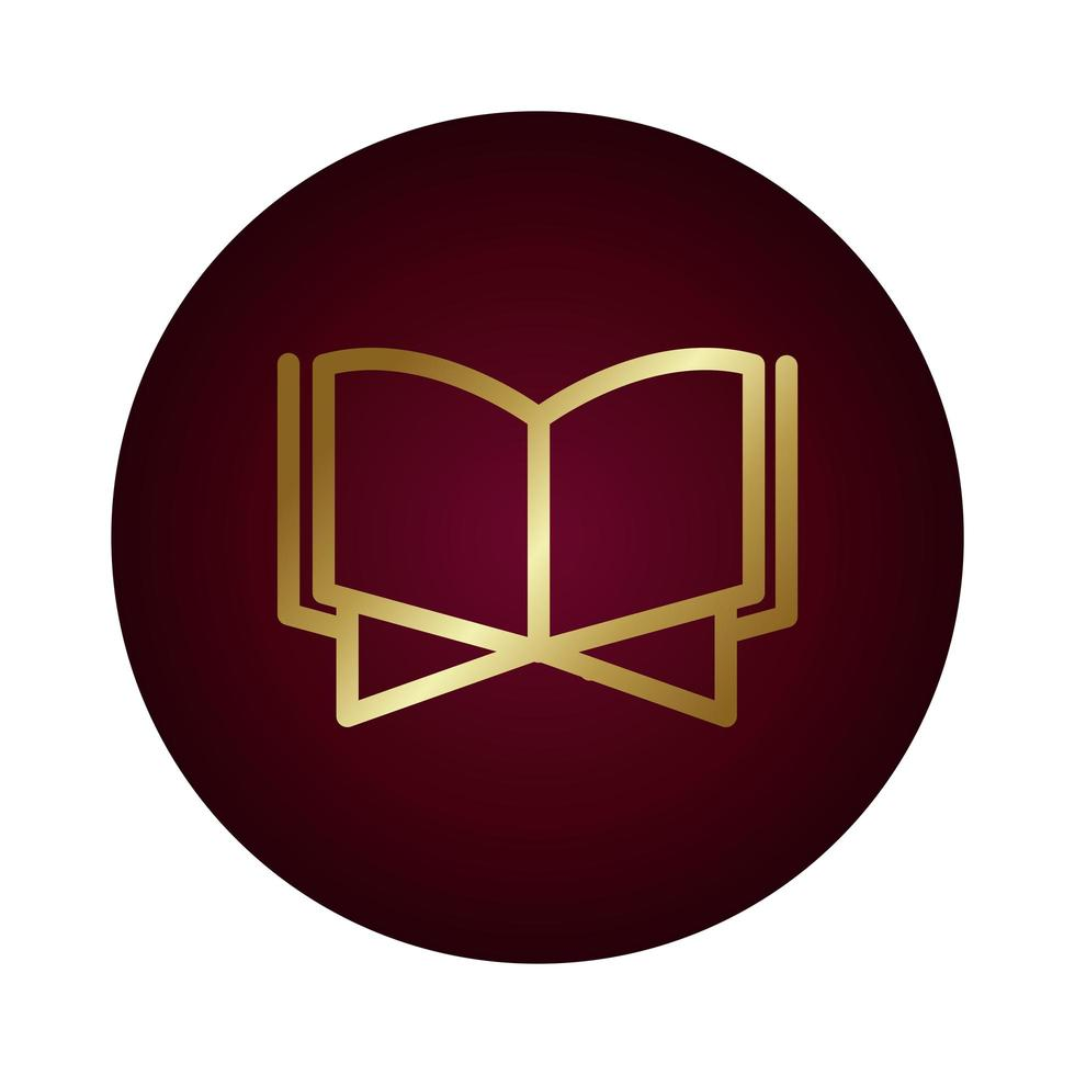 livre coran islam bloc style dégradé vector illustration design