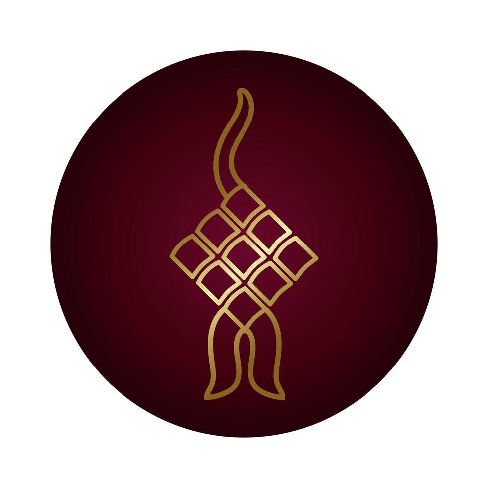 Élément décoratif ramadan kareem style dégradé de bloc suspendu vecteur