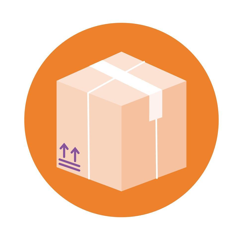 style de bloc de service de livraison de boîte vecteur