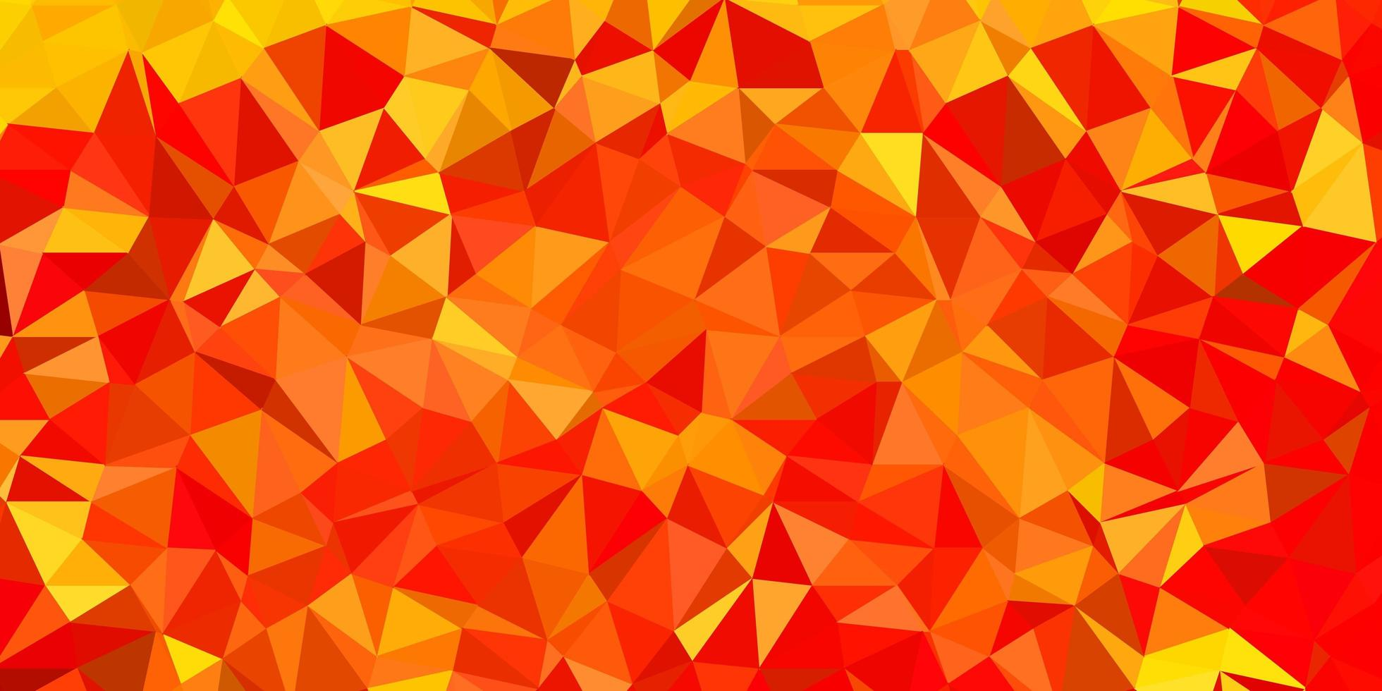 Disposition de polygone dégradé de vecteur rouge et jaune clair.