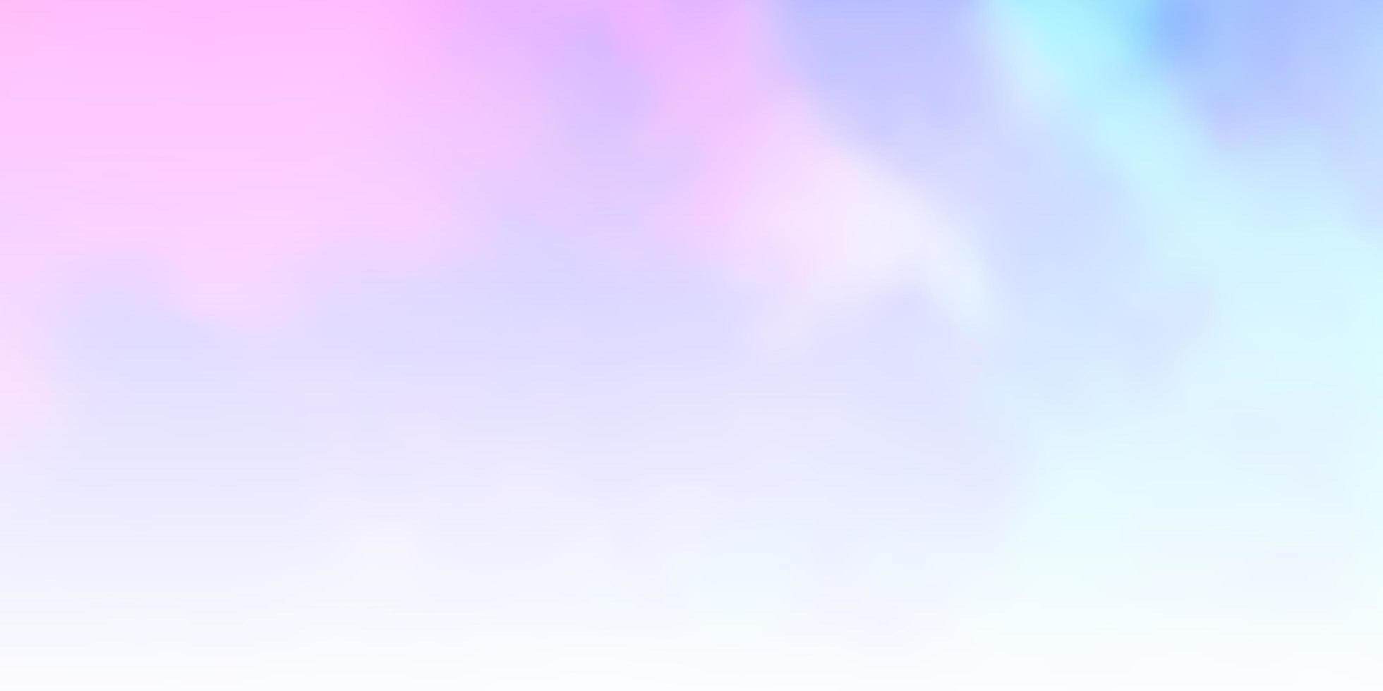 toile de fond de vecteur rose clair, bleu avec cumulus.